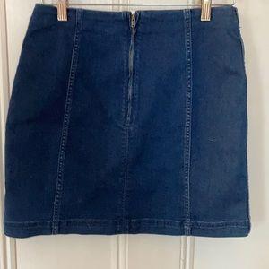 NWOT Free People Jean Skirt